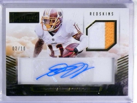 SOLD 15314 2015 Panini Playbook Desean Jackson autograph auto patch #D02/10 *68804