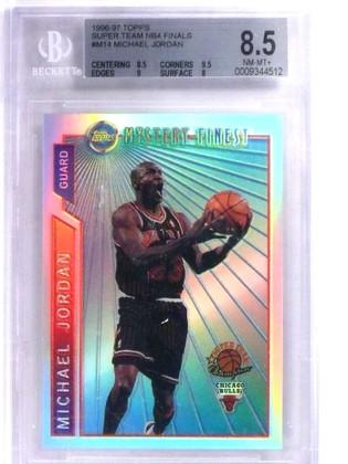 1996-97 Topps Super Team Refractor NBA Finals Michael Jordan #M14 BGS 8.5 *68823