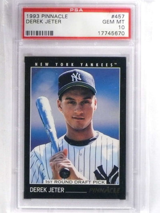 SOLD 15399 1993 Pinnacle Derek Jeter rc rookie #457 PSA 10 GEM MINT Yankees *68814