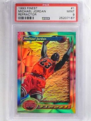 1993-94 Topps Finest Refractor Michael Jordan #1 PSA 9 MINT *68813