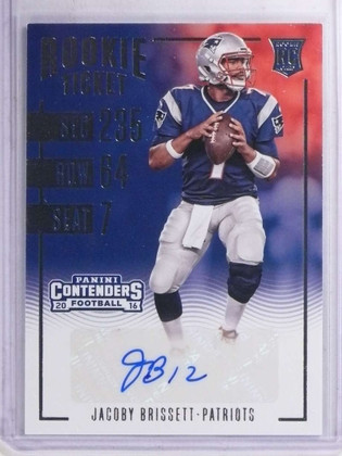 2016 Panini Contenders Jacoby Brissett autograph auto rc rookie #147 *68961