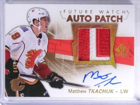 DELETE 15480 2016-17 Sp Authentic Matthew Tkachuk autograph patch rc #D45/100 #150 *68873