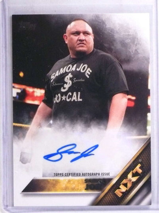 2016 Topps WWE NXT Then Now Samoa Joe autograph auto #D63/99 *68918