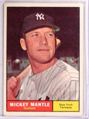 DELETE 15710 1961 Topps Mickey Mantle #300 VG *69224