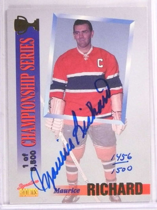 SOLD 15804 1995 Signature Rookies Maurice Richard autograph auto #D1456/1500 #CS5 *69283