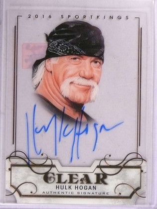 SOLD 15815 2016 Leaf Sportkings Clear Hulk Hogan autograph auto #SK-HH1 *69272
