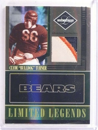 2006 Leaf Limited Legends Clyde Bulldog Turner 3 color patch #D25/25 *69631