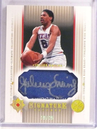 2004-05 Ultimate Collection Signature PatchesJulius Erving autograph #/25 *69647
