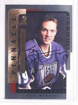 1996-97 Be a Player Link 2 History Steve Yzerman autograph auto #LTH-9B *69670