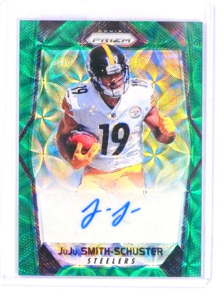 SOLD 16111 2017 Panini Prizm Green Scope Juju Smith-Schuster autograph auto rc #D/99 *69783