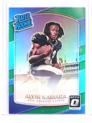 SOLD 16114 2017 Donruss Optic Green Prizm Alvin kamara rc rookie #D4/5 #199 *69780