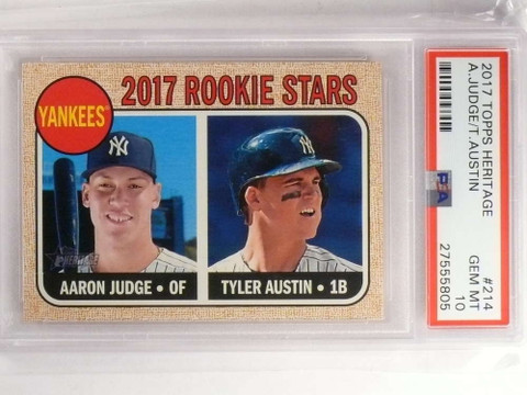 2017 Topps Heritage Aaron Judge rc rookie #214 PSA 10 GEM MINT *69939