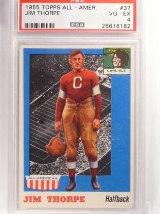 SOLD 17017 1955 Topps All American Jim Thorpe #37 PSA 4 VG-EX *69930