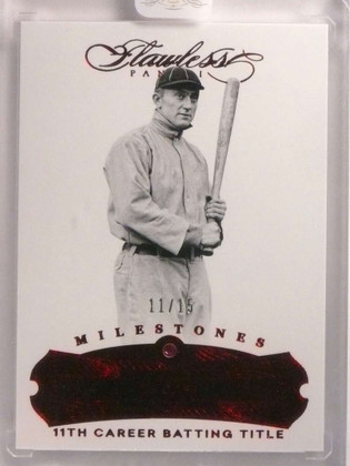 SOLD 17049 2017 Panini Flawless Milestones Ruby Red Ty Cobb #D11/15 #73 *69998