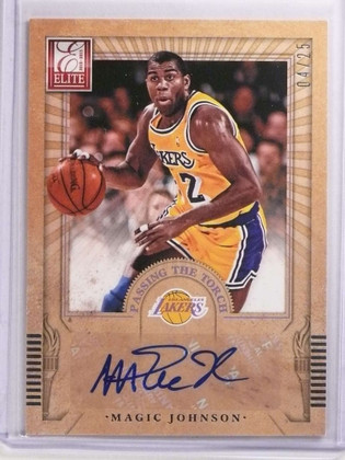 2012-13 Elite Passing The Torch Magic Johnson Steve Nash autograph #D4/25 *70009
