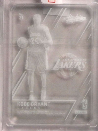 SOLD 17070 2016-17 Panini Absolute Glass Clear Kobe Bryant #21 Lakers *70019