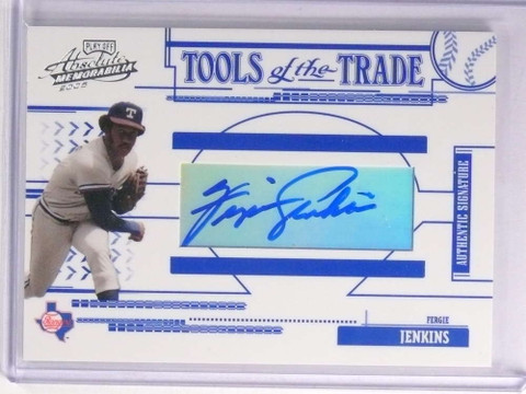 2005 Absolute Tools of the Trade Fergie Jenkins Autograph #D004/100 #TT118 *70223