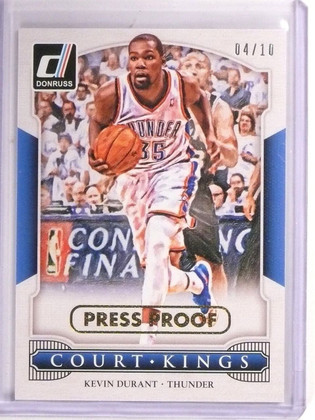 2014-15 Court Kings Kevin Durant Press Proofs Proof Gold #D04/10 #25 *54368