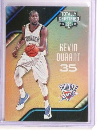 2015-16 Totally Certified Kevin Durant Mirror Gold #D02/10 #159 *54367