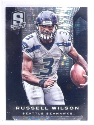 2013 Panini Spectra Black Atomic Prizm Russell Wilson #D 1/1 *56401