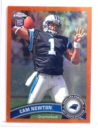 2011 Topps Chrome Orange Refractor Cam Newton Rookie RC #1 *70775