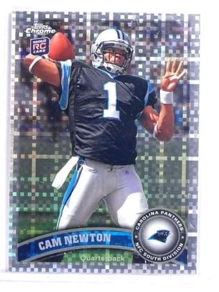 2011 Topps Chrome Xfractor Cam Newton Rookie RC #1 *70832