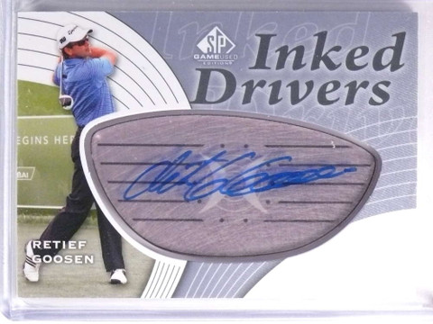 2012 SP Game Used Golf Inked Drivers Retief Goosen Autograph #IDRG *70501