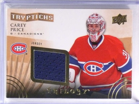 2014-15 Upper Deck Trilogy Tryptichs Carey Price Jersey #D388/600 #TCP1 *70850