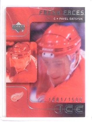 2001-02 Upper Deck Ice Pavel Datsyuk Rookie #D1381/1500 #53 *70869