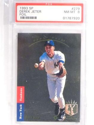 1993 Sp Foil Derek Jeter rc rookie #279 PSA 8 NM-MT Yankees *70933