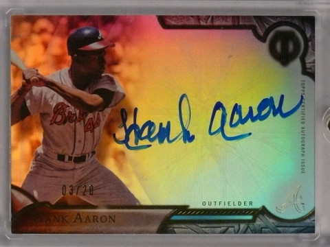 2016 Topps Tribute Hank Aaron Autograph auto #D03/20 #TAHA *71298
