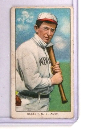 1909-11 T206 Willie Keeler w/ Bat Sweet Caporal Red Back #248 GD *71351