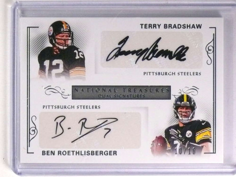2017 National Treasures Bradshaw Ben Roethlisberger Autograph #D10/10 *71300