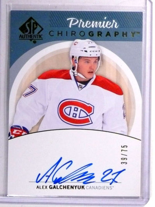 2013-14 SP Authentic Chirography Alex Galchenyuk Autograph auto #D39/75 *71401