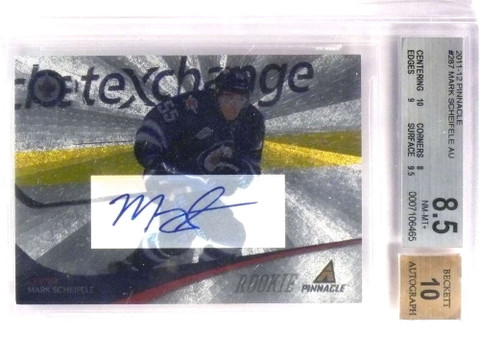 SOLD 18480 2011-12 Pinnacle Mark Scheifele Rookie Autograph auto #287 BGS 8.5 10 *71419