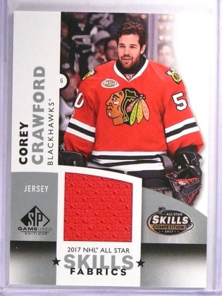 2017-18 SP Game Used Skills Fabric Corey Crawford Jersey #ASCC *71671