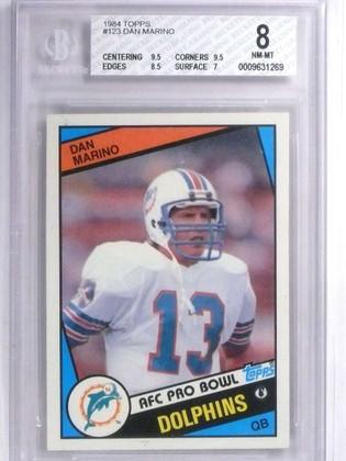 1984 Topps Dan Marino rc rookie #123 BGS 8 NM-MT Dolphins *71867
