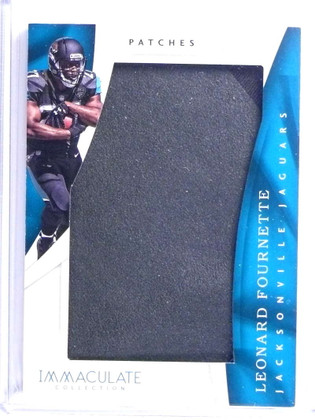 2017 Panini Immaculate Patches Leonard Fournette jumbo jersey rc #D13/15 *72143