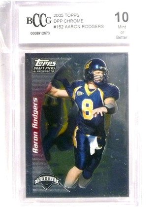 2005 Topps Draft DPP Chrome Aaron Rodgers rc rookie #152 BCCG 10  *72195