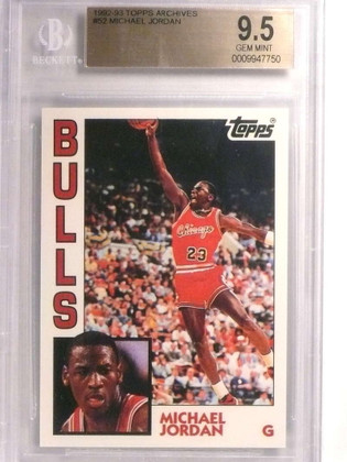 1992-93 Topps Archives Michael Jordan #52 BGS 9.5 GEM MINT Bulls *72460