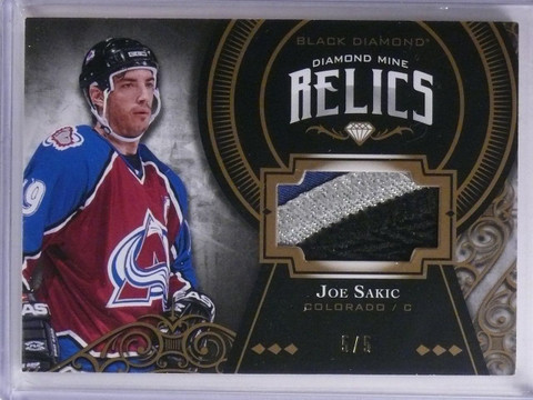 2016-17 UD Black Diamond Mine Relics Joe Sakic Patch #D5/5 #DMJS *65150