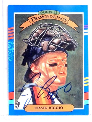 2004 Diamond Kings Recollection Collection Autograph Craig Biggio #D10/10 *58143