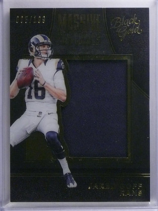 2016 Panini Black Gold Massive Materials Jared Goff Jersey #D005/199 #MMA9 *6553