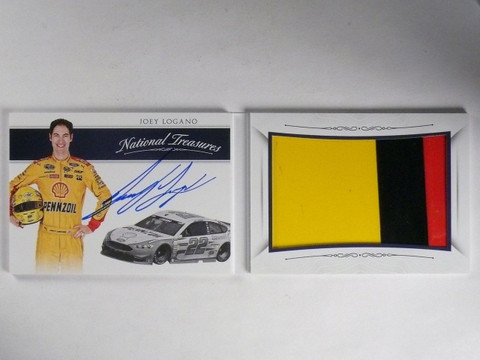 2016 National Treasures Joey Logano Jumbo Sheet Metal Autograph #D09/35 #JL *652