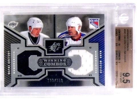 2005-06 SPX Winning Combos Wayne Gretzky Messier jersey #d183/350 BGS 9.5  *5739