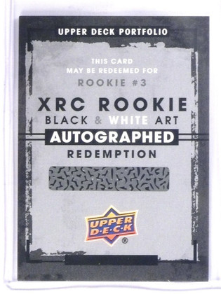 2015-16 Upper Deck Portfoilio Black & White autograph redemption rookie #3 *5731