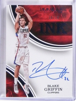 2015-16 Panini Immaculate Ink Blue Blake Griffin autograph auto #D10/10 *57337