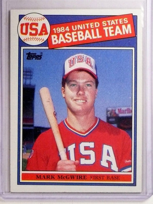 1985 Topps Mark McGwire Olympic Rookie RC #401 *66955