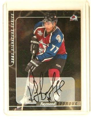 00-01 Be A Player BAP Signature Series Ray Bourque auto autograph #135 sp! *4150