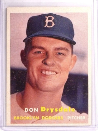 SOLD 8738 1957 Topps Don Drysdale Rookie RC #18 VG-EX *66753